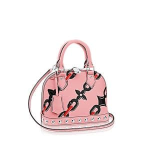Louis Vuitton Pink Chain Flower Alma BB Bag