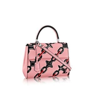 Louis Vuitton Pink Chain Flower Epi Cluny BB Bag
