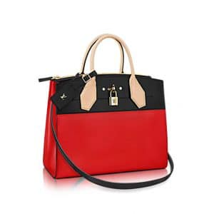 Louis Vuitton Red City Steamer MM Bag