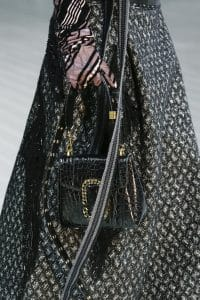 Marc Jacobs Black Crocodile Flap Bag - Fall 2016