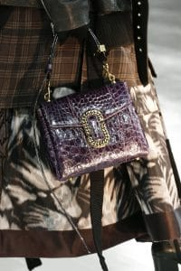 Marc Jacobs Violet Crocodile Flap Bag - Fall 2016
