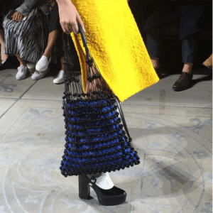Mulberry Black/Blue Beaded Tote Bag - Fall 2016