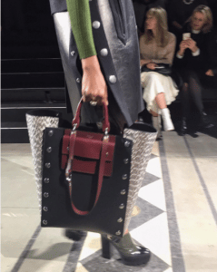 Mulberry Black/Burgundy Leather:Python Tote Bag - Fall 2016