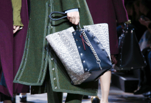 Mulberry Black/White Studded Leather/Python Tote Bag - Fall 2016