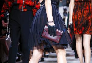 Mulberry Burgundy Studded Clutch Bag - Fall 2016