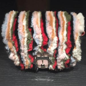 Paula Cademartori Pink Multicolor Striped Shoulder Bag - Fall 2016