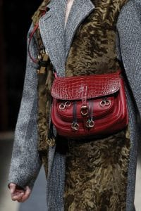 Prada Red Crocodile Satchel Bag - Fall 2016
