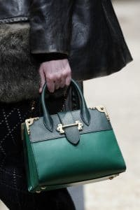 Prada Teal/Green Buckled Tote Bag - Fall 2016