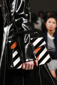 Proenza Schouler Black/White/Red Striped Top Handle Bag - Fall 2016