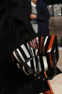 Proenza Schouler Black/White/Red Striped Tote Bag - Fall 2016