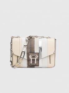 Proenza Schouler White Exotic Stripe Hava Chain Shoulder Bag