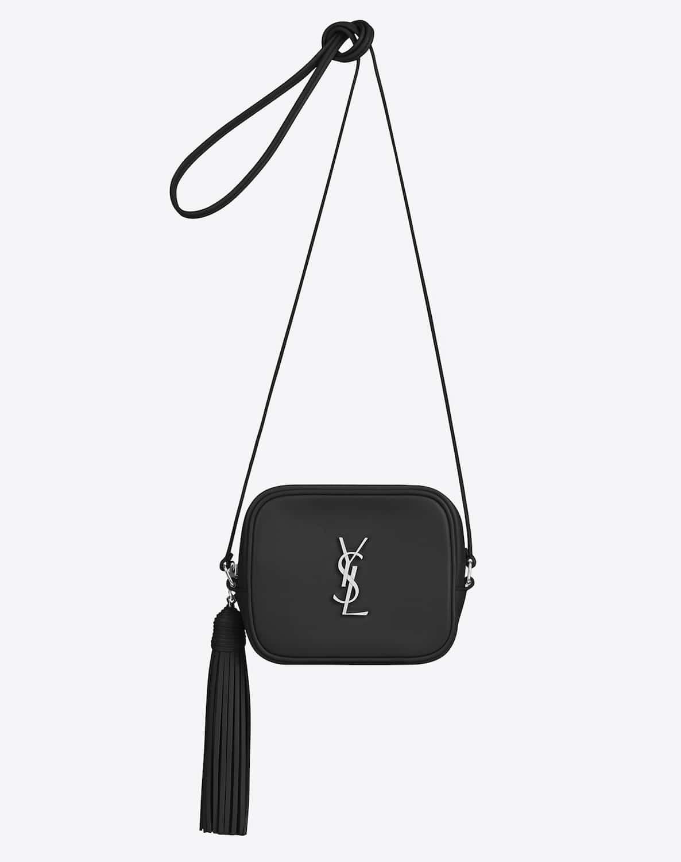 iv sen loren bags - monogram fringe beaded pouch, black