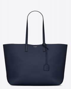 Saint Laurent Navy Blue Large Shopping Bag
