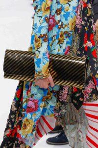 Balenciaga Black/Gold Striped Long Clutch Bag 2 - Fall 2016