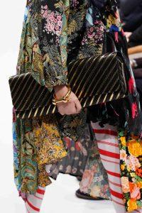 Balenciaga Black/Gold Striped Long Clutch Bag 3 - Fall 2016