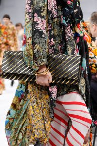 Balenciaga Black/Gold Striped Long Clutch Bag 4 - Fall 2016