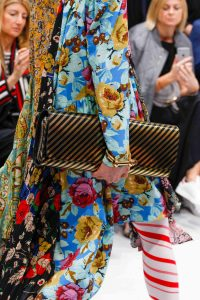 Balenciaga Black/Gold Striped Long Clutch Bag - Fall 2016