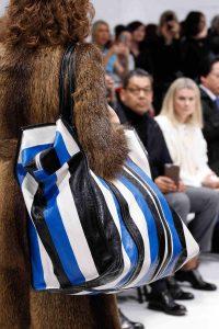 Balenciaga Black/White/Blue Striped Oversized Tote Bag 2 - Fall 2016