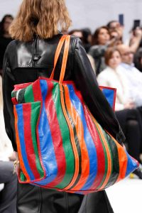 Balenciaga Multicolor Striped Oversized Tote Bag 2 - Fall 2016