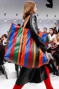 Balenciaga Multicolor Striped Oversized Tote Bag - Fall 2016
