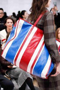 Balenciaga Red/White/Blue Striped Oversized Tote Bag 2 - Fall 2016