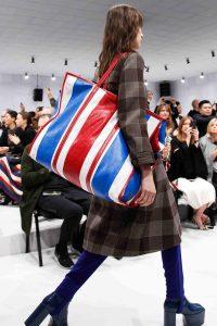 Balenciaga Red/White/Blue Striped Oversized Tote Bag - Fall 2016