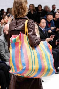 Balenciaga Yellow/Red/Blue Striped Oversized Tote Bag - Fall 2016