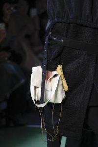 Celine White and Yellow Flap Bags - Fall 2016