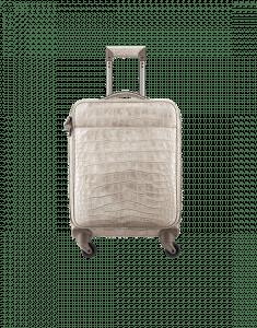 Chanel Beige Alligator Coco Case Trolley Bag