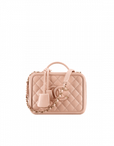 Chanel Beige Vanity Case Small Bag