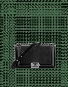Chanel Black Lizard Boy Chanel Old Medium Flap Bag