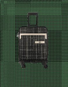Chanel Black/Beige Tweed/Calfskin Coco Case Trolley Bag