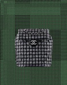 Chanel Black/Silver Tweed/Lambskin Urban Spirit Backpack Bag