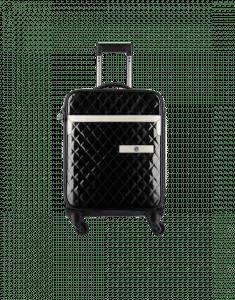 Chanel Black/White Patent Coco Case Trolley Bag