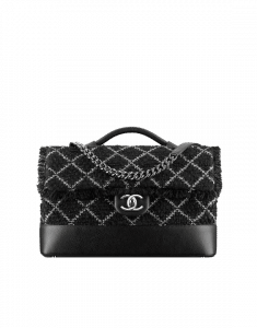 Chanel Black/White Tweed Flap Bag