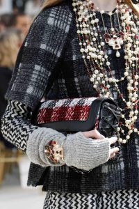 Chanel Black/White/Red Tweed:Leather Flap Bag - Fall 2016