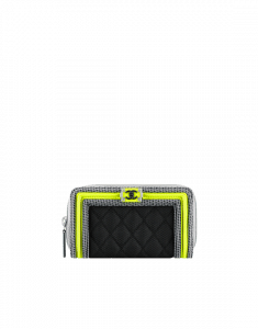 Chanel Boy Chanel Fluo Small Zipped Wallet