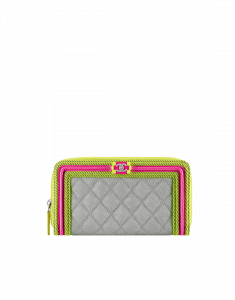Chanel Boy Chanel Fluo Zipped Wallet