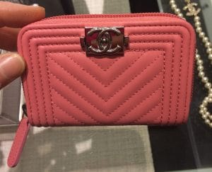 Chanel Chevron Boy Chanel Coin Purse