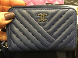 Chanel Chevron Coin Purse