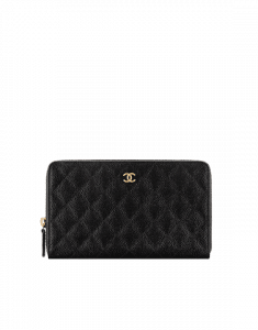 Chanel Classic Quilted Large Zipped Wallet