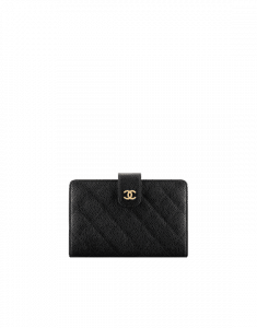 Chanel Classic Quilted Zipped Pocket Wallet
