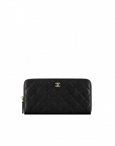 Chanel Classic Quilted Zipped Wallet