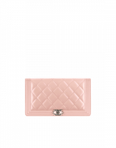 Chanel Iridescent Calfskin Boy Chanel Wallet