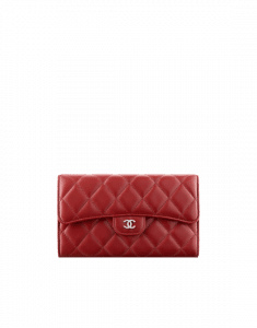 Chanel Lambskin Classic Quilted Flap Wallet