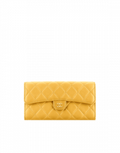 Chanel Lambskin Quilted Flap Wallet