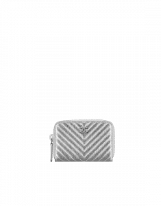 Chanel Metallic Chevron Coin Purse