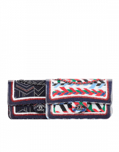 Chanel Multicolor Tweed and Silicone Braid Classic Flap Medium Bags