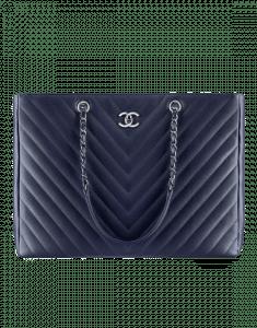 Chanel Navy Blue Large Shopping bag