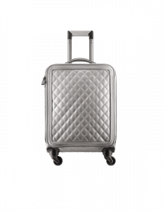 Chanel Silver Coco Case Trolley Bag